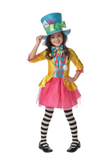 Rubies Mad Hatter Girls Deluxe Costume - 294625