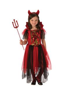 Rubies Colour Magic Devil Girl Costume - 294688