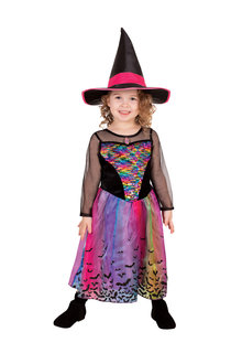 Rubies Rainbow Colour Magic Witch Deluxe Costume - 294714