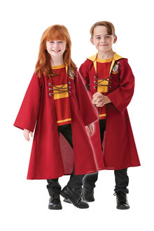 Rubies Quidditch Hooded Robe - 294722