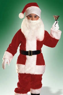 Rubies Santa Suit Plush Child - 294857