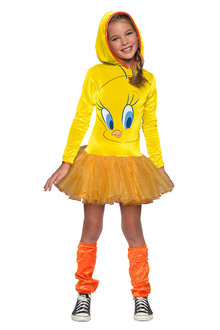 Rubies Tweety Girls Hooded Costume - 294862