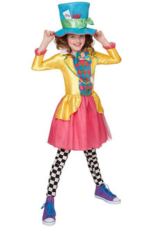 Rubies Mad Hatter Girls Deluxe Costume - 294912