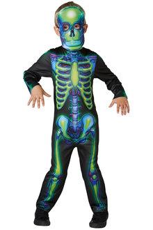 Rubies Neon Skeleton Glow In The Dark Costume - 294936