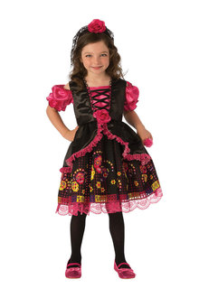 Rubies Day Of The Dead Girls Costume - 295009