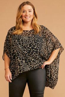Sara Chiffon Drape Top - 295061