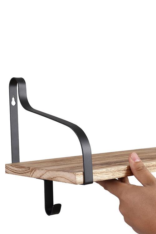 Levede Floating Shelf Wall Shelf for Storage Rustic Wood 2pk