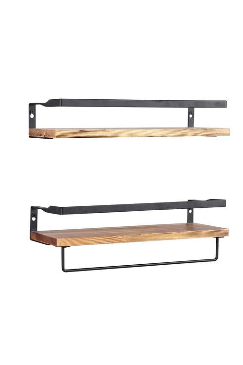 Levede Set of 2 Floating Shelves Mounted Storage Shelves