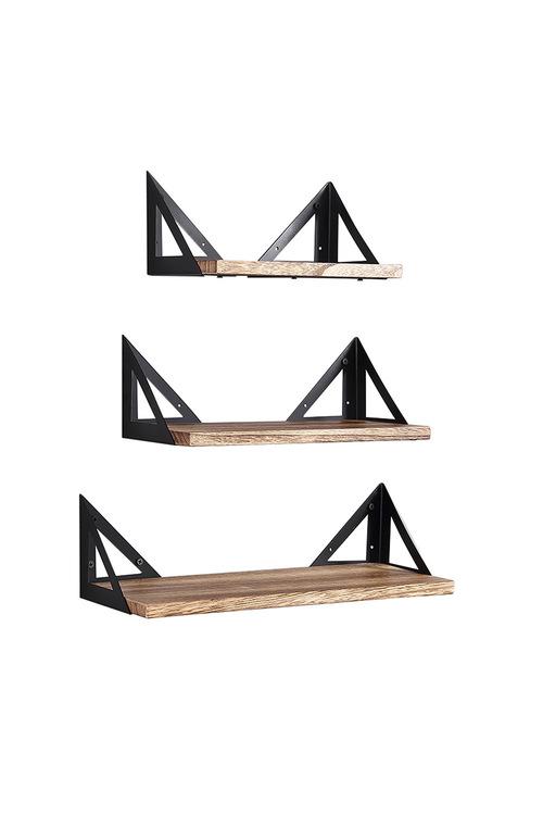 Levede Floating Shelves Wall Mounted Set Of 3