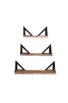 Levede Floating Shelves Wall Mounted Set Of 3 - 295154