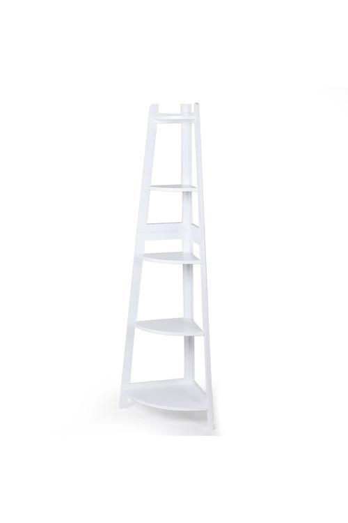 Levede 5 Tier Corner Ladder Shelf Design A