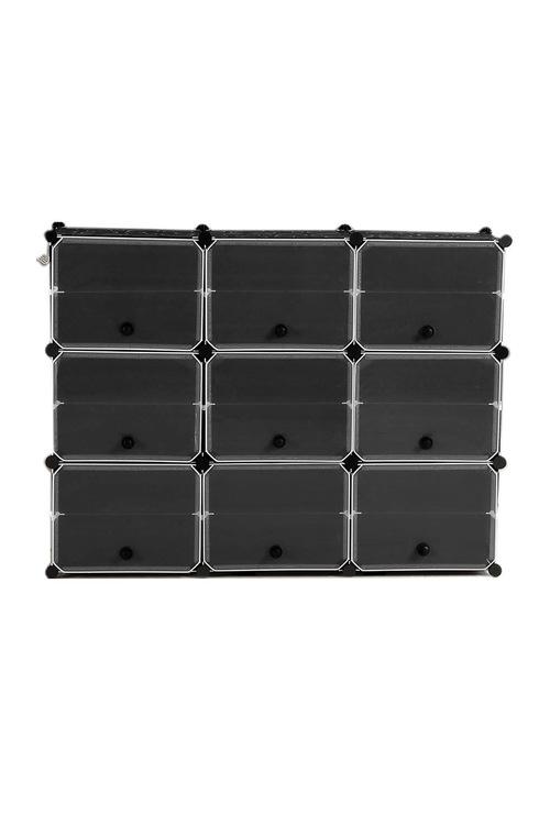 Levede 3 Column 6 Row Shoes Cabinet