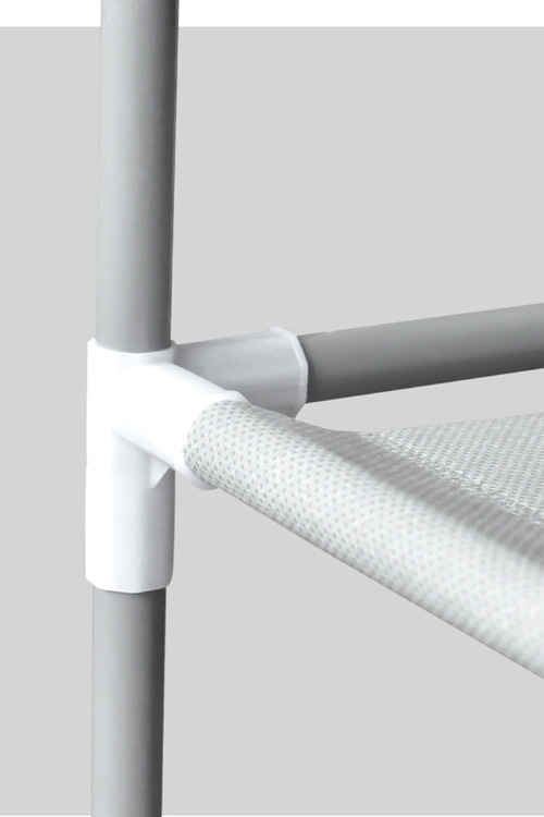 Levede 50 Pairs 10 Tiers Portable Steel Stackable Shoe Rack