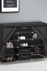 Levede Portable Shoe Cabinet with 2 Drawer