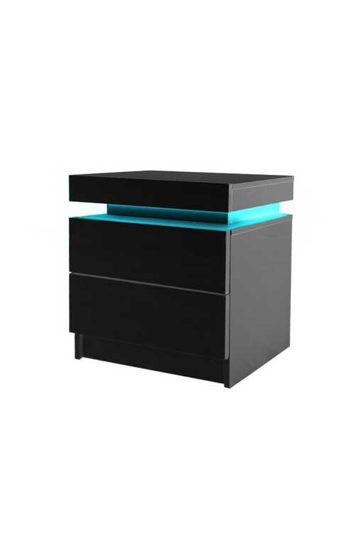 Levede Bedside Table With 2 Drawers