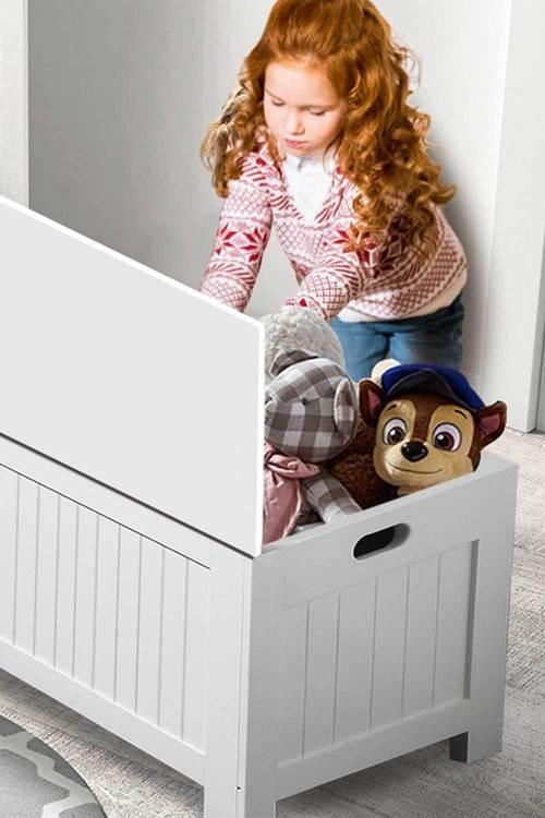 Levede Toy Box Kids Stuff Storage Cabinet Unit with Kid Safe Closure Lid