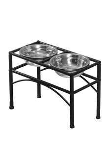 Paws Stainless Steel Dual Elevated Pet Bowls - 295431
