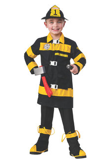 Rubies Fire Fighter Deluxe Costume - 295586