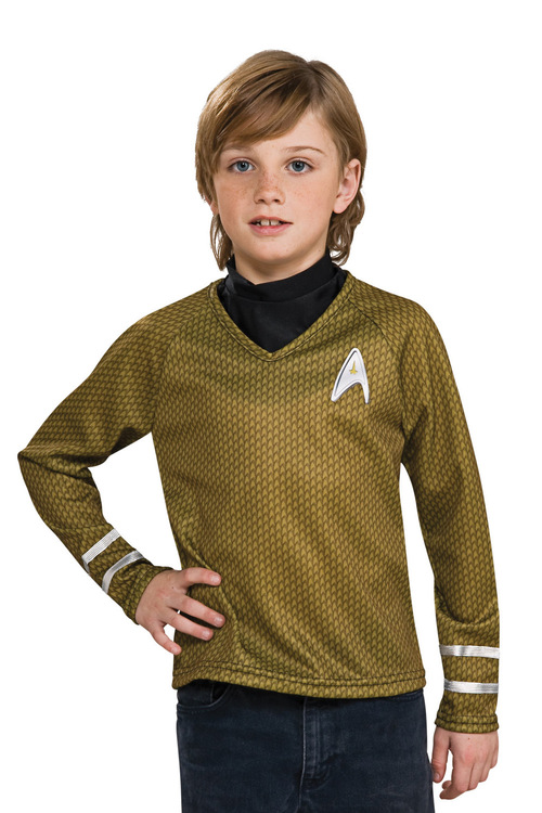 Rubies Star Trek Gold Shirt Child Long Sleeve