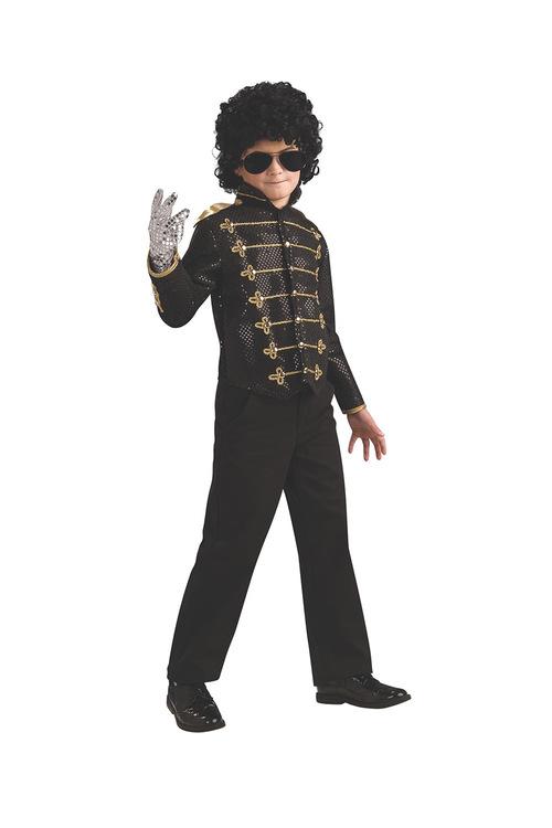 Rubies Michael Jackson Deluxe Blk Military Jacket