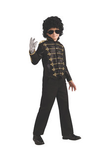 Rubies Michael Jackson Deluxe Blk Military Jacket - 295630