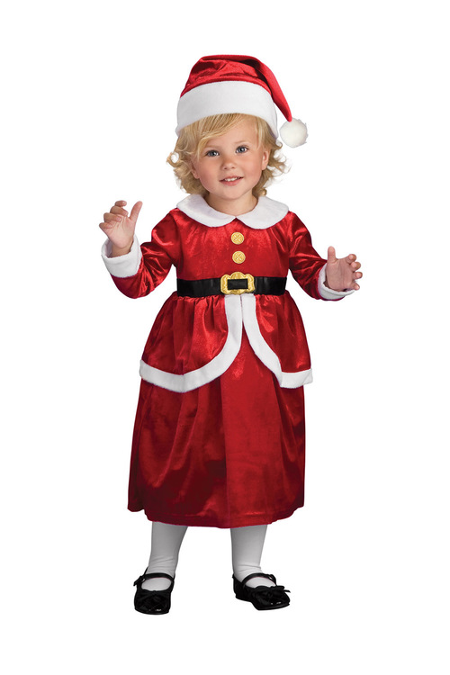 Rubies Lil' Mrs Claus Dress And Apron Set