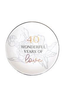 Splosh Anniversary 40 Trinket Plate - 296553
