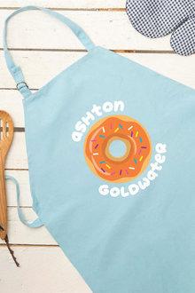 Personalised Blue Donut Kids Apron - 296739