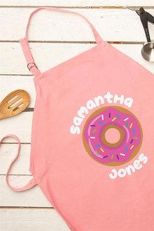 Personalised Pink Donut Kids Apron - 296741
