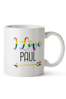 Personalised  Set of 2 Rainbow Love Ceramic Mug - 296749