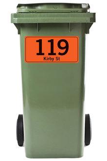 Personalised 3 Pack Green Giant Wheelie Bin Stickers - 296759