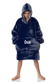 Personalised Navy Hooded Blanket - Kids - 296891