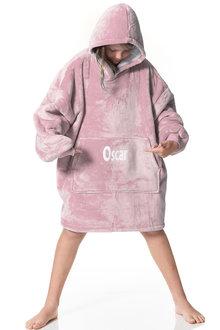 Personalised Blush Pink Hooded Blanket - Kids - 296893