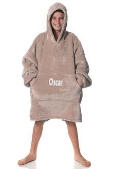 Personalised Latte Hooded Blanket - Kids - 296900
