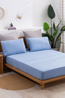 Dreamaker Cotton Jersey Fitted Sheet Set - 296941