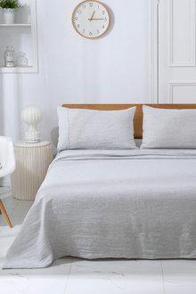 Natural Home Classic Pinstripe Linen Sheet Set - 296951