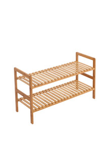 Sherwood Home 2-Tier Essential Natural Bamboo Shoe Rack - 296952