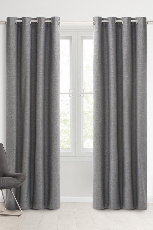 Sherwood Home 100% Blockout Eyelet Curtain Pair