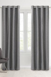 Sherwood Home 100% Blockout Eyelet Curtain Pair - 296954