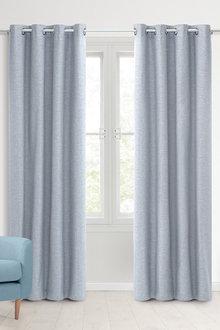 Sherwood Home 100% Blockout Eyelet Curtain Pair - 296955