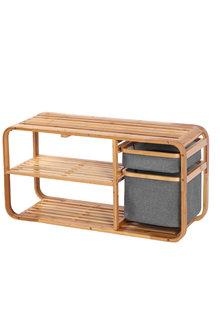 Bamboo Shoe Storage Rack Bench - 296961