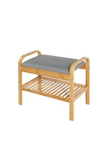 Sherwood Home Seated Shoe Bench and Storage Rack - 296965