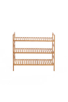 Sherwood Home 3-Tier Essential Natural Bamboo Shoe Rack - 296967