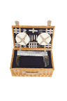 Sherwood Home Ascot Natural Deluxe Wicker Picnic Basket 4 People