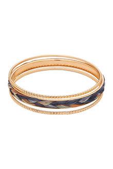 Amber Rose Threaded Raffia Bracelet - 297052