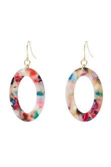 Amber Rose Geometric Earring - 297053