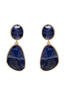 Amber Rose Fossil Drop Earrings - 297058