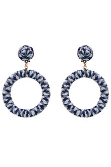 Amber Rose Threaded Round Drop Earrings - 297059