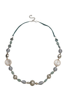 Amber Rose Multi Beads Rope Necklace - 297060