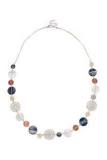 Amber Rose New Naturals Shell Rope Necklace - 297061